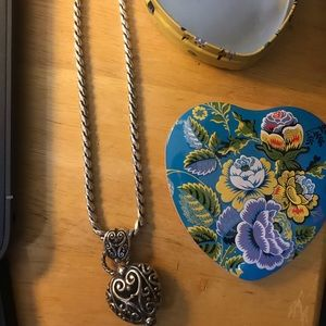 Brighton Vintage necklace and tin can
